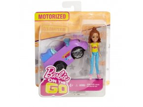barbie on the go fialovy kabriolet