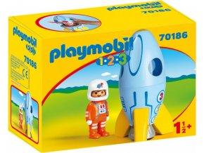 PLAYMOBIL® 70186 Kosmonaut v raketě (1.2.3)
