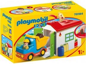PLAYMOBIL® 70184 Vyklápěcí auto s garáží a vkládačkou (1.2.3)