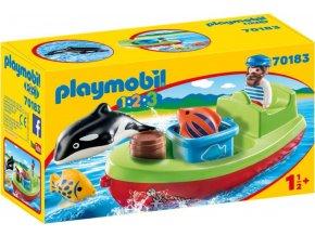 PLAYMOBIL® 70183 Rybářská loďka (1.2.3)
