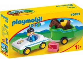 PLAYMOBIL® 70181 Auto s přívěsem pro koně (1.2.3)