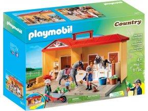 Playmobil 5671 Přenosná koňská stáj