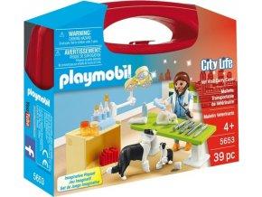 Playmobil 5653 Přenosný kufřík Návštěva u veterináře