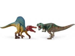Schleich 41455 Spinosaurus a T-Rex malé figurky
