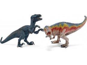 Schleich 42216 T-Rex a Velociraptor malé figurky