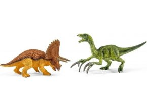 Schleich 42217 Triceratops a Therizinosaurus