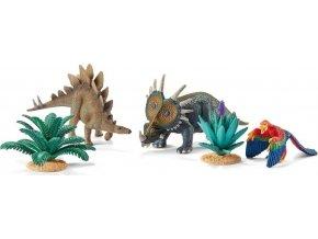Schleich 42260 Hrací set s prehistorickými zvířaty a rostlinami