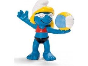 Schleich 20738 Figurka Šmoulinka plážová volejbalistka Schleich