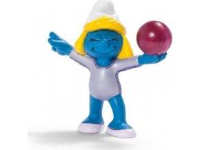 Schleich 20740 Figurka Šmoulinka gymnastka s míčem Schleich