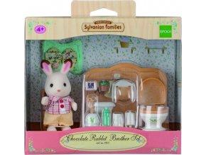 Sylvanian Families 5015 Bratr čokoládových králíků + toaleta