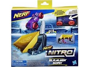 NERF Nitro Náhradní autíčko dvojitá akce Slam Min Soar