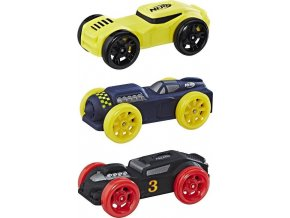 NERF Nitro náhradní vozidla 3 ks, černé, modré, žluté