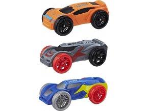 NERF Nitro náhradní vozidla 3 ks, oranžové, modré, šedé