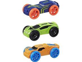 NERF Nitro náhradní vozidla 3 ks, modré, zelené, oranžové