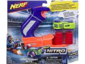 NERF Nitro Throttleshot Blitz zelené vozidlo