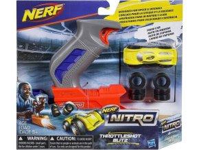 NERF Nitro Throttleshot Blitz žluté vozidlo
