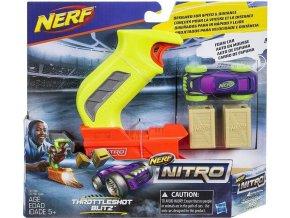 NERF Nitro Throttleshot Blitz fialové vozidlo