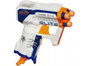 NERF Elite kapesní pistole s 3 hlavněmi bílá