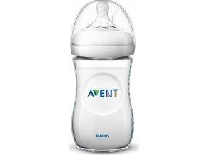 Kojenecká láhev Avent Natural transparentní 260 ml