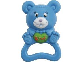 Dětské chrastítko Baby Mix medvěd modrý
