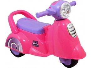 Dětské jezdítko se zvukem Baby Mix Scooter pink