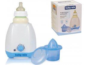 Elektrický ohřívač lahví a dětské stravy s příslušenstvím Baby Mix modrý
