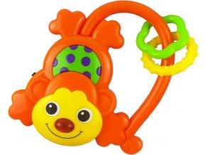 Dětské chrastítko se zvukem Baby Mix Opička oranžová
