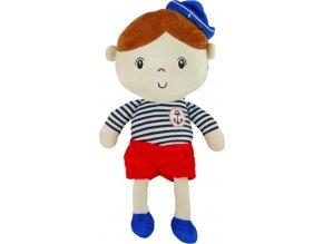 Edukační plyšová panenka Baby Mix námořník chlapec