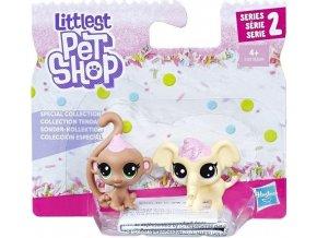 Littlest Pet Shop Frosting Frenzy 2 zvířátka Opička a slon