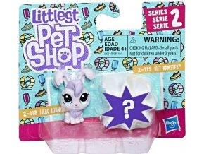 Littlest Pet Shop Dvě zvířátka Lilac Bunnyton & Biff Hamsted