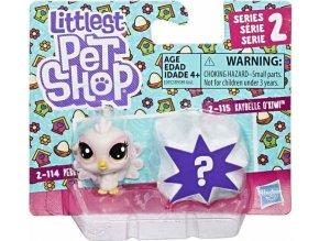 Littlest Pet Shop Dvě zvířátka Perky Peacoki & Kaybelle Okiwi