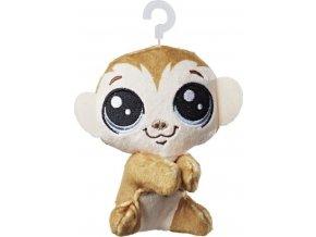 Littlest Pet Shop Plyšák s klipem Clicks Monkeyford
