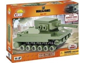 COBI 3027 World of Tanks M46 Patton, nano model