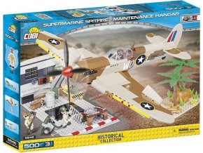 COBI 5546 SMALL ARMY - II WW Supermarine Spitfire Hangár