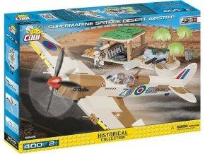 COBI 5545 SMALL ARMY - II WW Supermarine Spitfire Pouštní letiště