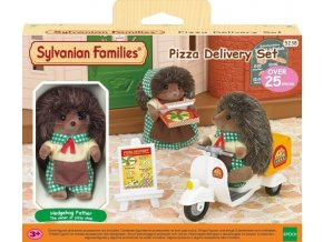 Sylvanian Families 5238 Rozvoz pizzy s příslušenstvím a jednou figurkou