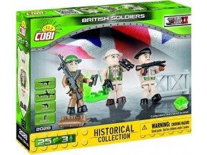 COBI 2028 SMALL ARMY - 3 figurky s doplňky Britská armáda