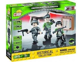 COBI 2027 SMALL ARMY - 3 figurky s doplňky Německá armáda