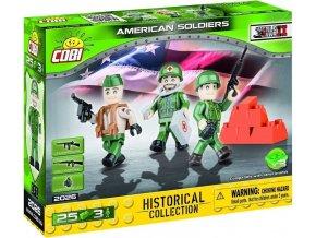 COBI 2026 SMALL ARMY - 3 figurky s doplňky Americká armáda