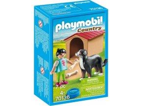 PLAYMOBIL® 70136 Švýcarský salašnický pes v boudě