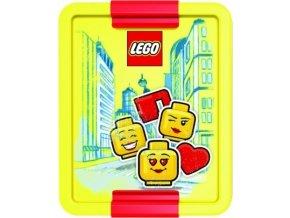 LEGO ICONIC Classic Girl box na svačinu žlutá-červená