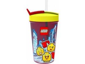 LEGO ICONIC Classic kelímek s brčkem žlutá-červená