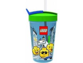 LEGO ICONIC Classic kelímek s brčkem modrá-zelená