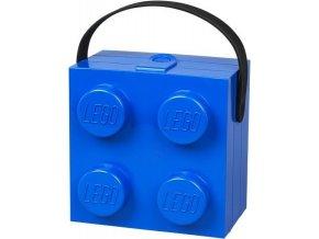 LEGO box s rukojetí modrý