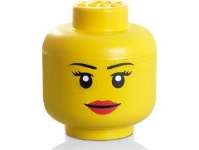 LEGO Box hlava Dívka velikost L