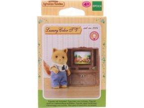 Sylvanian Families 4264 Skříňka s barevnou televizí