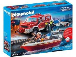 PLAYMOBIL 70054 Hasičské auto s hasičským člunem