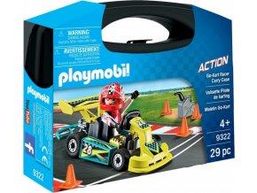 PLAYMOBIL® 9322 Přenosný kufřík Motokárový závodník