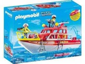 PLAYMOBIL® 70147 Záchranný hasičský člun s motorem