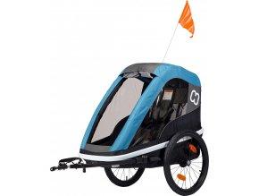 Hamax AVENIDA ONE - jednomístný vozík za kolo vč. ramena + kočárkový set PETROL BLUE